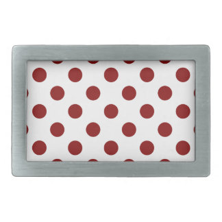 DOTS - RED RED (a polka dot design) ~ Belt Buckle