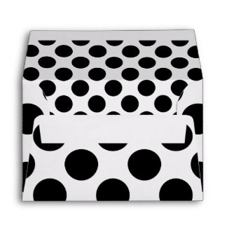 Dots seamless pattern black + your back envelope