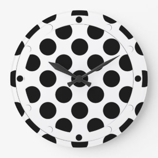 Dots seamless pattern black + your back large clock