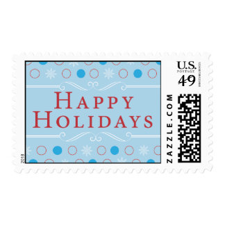 Dots & Snowflakes Holiday Postage
