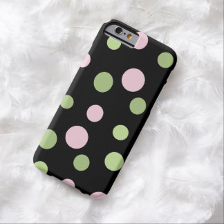 Dots, Spots (Dotted Pattern) - Pink Green Barely There iPhone 6 Case