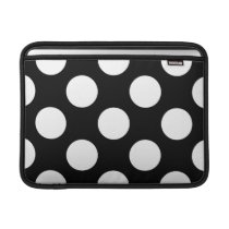 Dots, Spots, Polka Dotted Pattern - White Black MacBook Air Sleeve