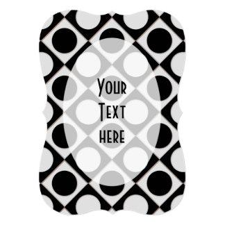 Dots & Squares / black white + your ideas Card
