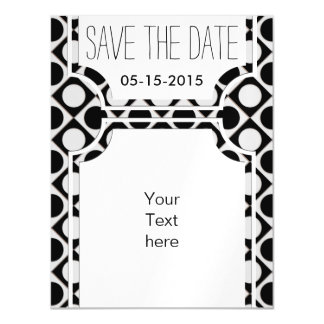 Dots & Squares / black white + your ideas Magnetic Card
