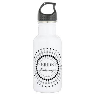 Dots Startburst Bride Entourage 18oz Water Bottle