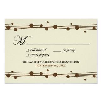 Dots & Straw RSVP Card (ivory/chocolate)