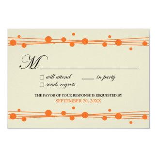 Dots & Straw RSVP Card (ivory/orange)