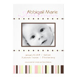 Dots & Stripes - Baby Annoucement - Pink Invites