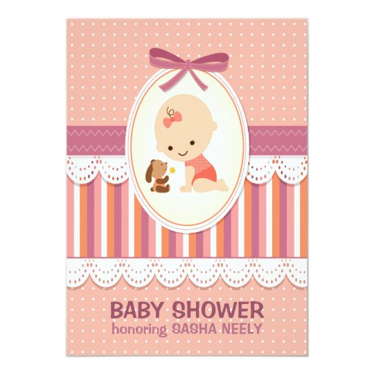 Dots & Stripes Baby Shower Invitation