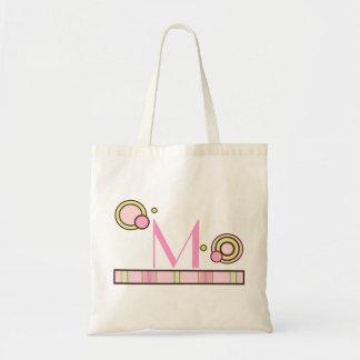 Dots & Stripes Monogrammed Bag - Pinks