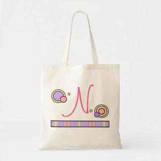 Dots & Stripes Monogrammed Bag - pinks & purples
