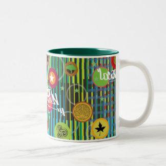 Dots Stripes Stars Two-Tone Coffee Mug