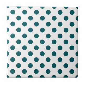 DOTS - TEAL (a polka dot design) ~ Ceramic Tile