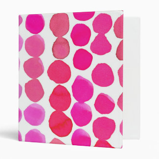 Dots Three Ring Binder in Pink