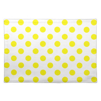 DOTS - YELLOW (a polka dot design) ~ Cloth Placemat