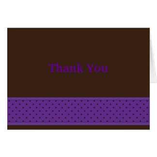 DotStrip Notecard-Violet/Brown Stationery Note Card