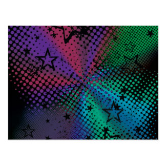 Dotted Abstract with Stars customizable design Postcard
