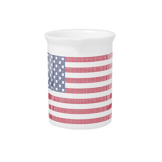 Dotted american flag drink pitcher