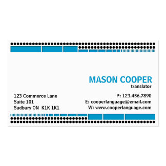 Dotted And Dashed - Blue Business Cards