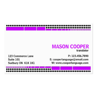 Dotted And Dashed - Purple Business Card Templates