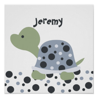 Dotted Baby Turtle Print