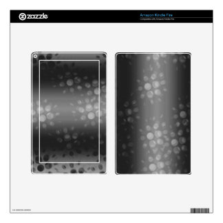Dotted Bursts Pattern - Black, Gray, White Kindle Fire Decals