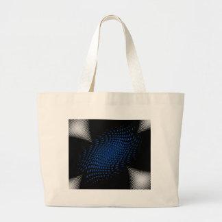 Dotted_Center_blue Bolsa Tela Grande