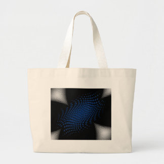 Dotted_Center_blue Jumbo Tote Bag