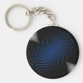 Dotted_Center_blue Llavero Redondo Tipo Pin