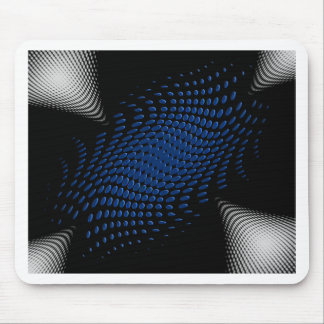 Dotted_Center_blue Mouse Pad