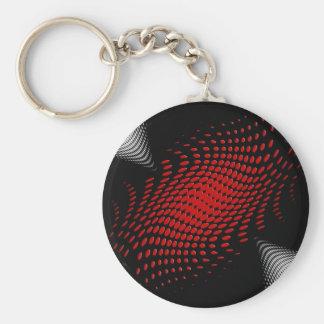 Dotted_Center_red Llavero Redondo Tipo Pin
