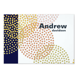 Dotted Circles Personalized Notes Card