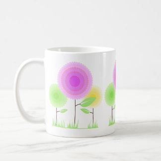Dotted Flowers Classic White Coffee Mug