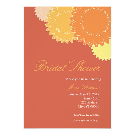 Dotted Flowers - Orange, Yellow Card