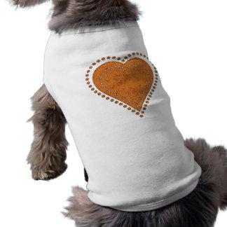 DOTTED GOLDEN HEART T-Shirt