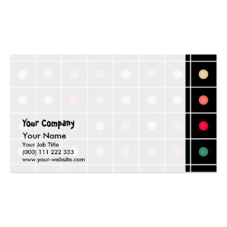 Dotted grid business card