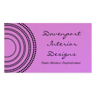 Dotted Half Moons Business Card, Lavender