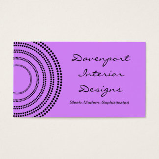 Dotted Half Moons Business Card, Lavender Business Card