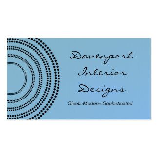 Dotted Half Moons Business Card, Light Blue