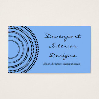 Dotted Half Moons Business Card, Light Blue Business Card