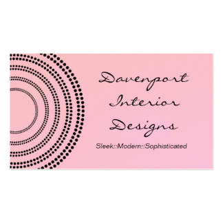 Dotted Half Moons Business Card, Pink Blush