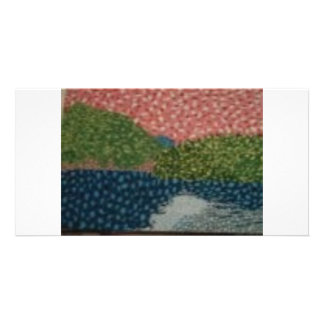DOTTED LANDSCAPE CUSTOMIZED PHOTO CARD