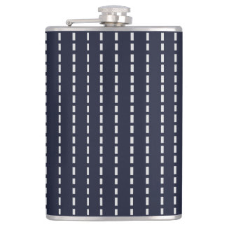 Dotted Lines on Dark Blue Flask