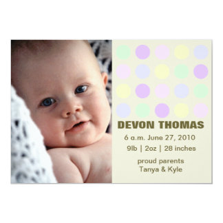 Dotted Luv 5x7 Paper Invitation Card