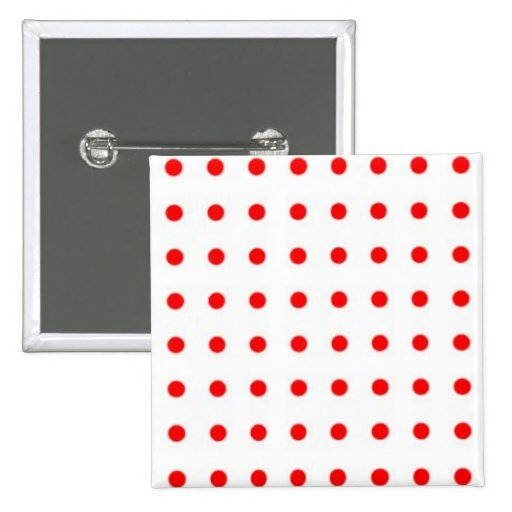dotted polka dots red Christmas star scores Pinback Button