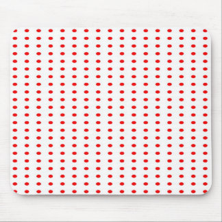dotted polka dots red Christmas star scores Mouse Pad