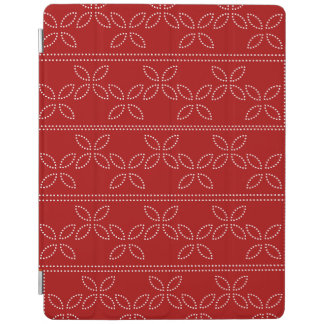 Dotted Posies on Red iPad Cover