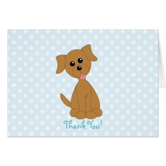 Dotted Preppy Puppy Card