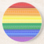 Dotted Rainbow Coaster