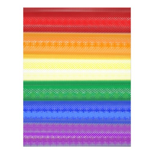 Dotted Rainbow Personalized Letterhead